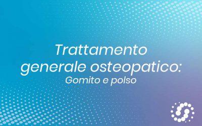 Trattamento generale osteopatico gomito e polso in decubito laterale