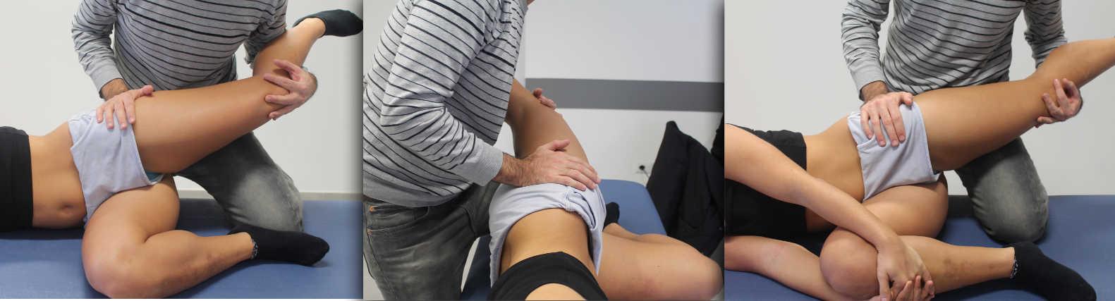 Trattamento generale osteopatica anca decubito laterale