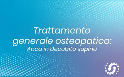 Trattamento generale osteopatico anca da supino