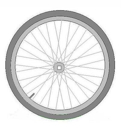 Ruota bicicletta sistema tensegrile