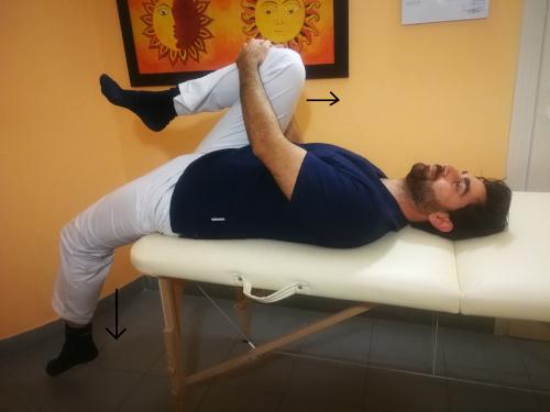 Stretching psoas da sdraiato