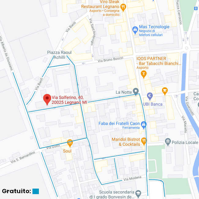 Parcheggio gratuito a Legnano